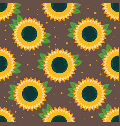 Sunflower seamless pattern vector