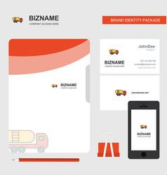 tanker truck business logo file cover visiting vector image