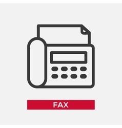 Telephone Fax single icon vector