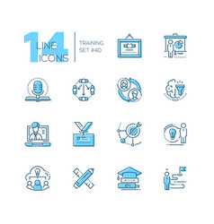 training - set line design style icons vector image