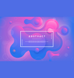trendy fluid liquid gradient design elements vector image