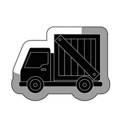 Truck vehicle delivery service vector