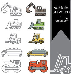 vehicle universe 2 vector image