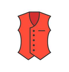 vest filled color outline editable stroke vector image