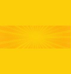 vintage pop art yellow background banner vector image