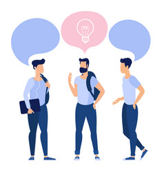 young students communicating at college vector image