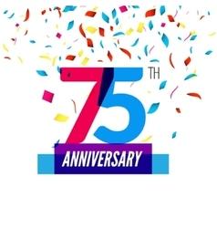 Anniversary design 75th icon anniversary vector image vector image