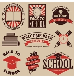 back to school Labels badges and design elements vector image
