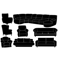 couches vector image vector image