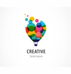 creative colorful icon hot air balloon vector image vector image