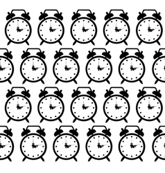 doodle alarm clock seamless pattern background vector image