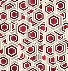 vintage rhombus white and red color seamless vector image vector image