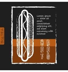 Hot dog Fast food delicious Menu design vector image
