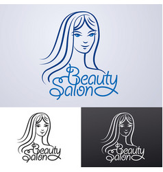 logo for beauty salon vector image vector image