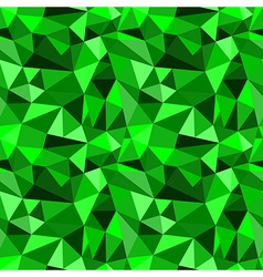 Seamless green abstract geometric rumpled pattern vector image vector image