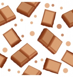 seamless pattern with choco pieces vector image vector image