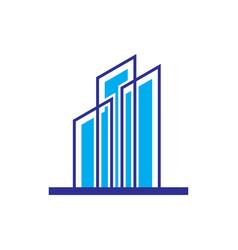 skyscraper logo business logo vector image