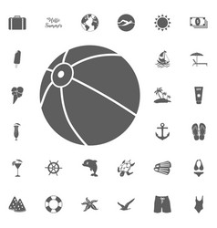 beach ball icon isolated sign vector image