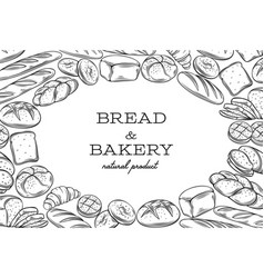 bread template frame vector image