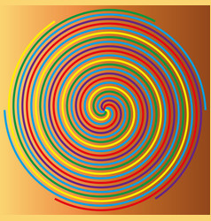 color spiral on a beige background abstraction 1 vector image vector image