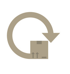 delivery box around icon vector image