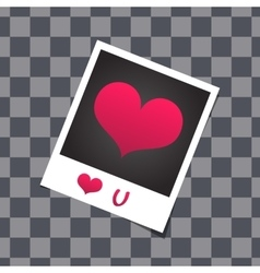 Love card template with blank photo frame on the vector image vector image
