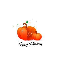 pumpkin and halloween vector image vector image