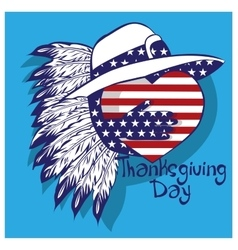 The Thanksgiving Day hand tied with historical vector image