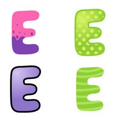 cartoon font type vector image