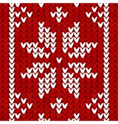 Christmas embroidery background vector image