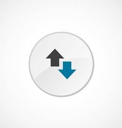 2 side arrow icon colored vector