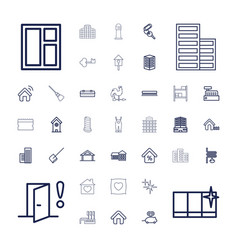 37 house icons vector