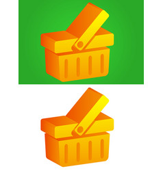 3d basket icon vector image