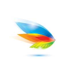 abstract feather leaf symbol vector image
