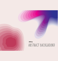Abstract topography 3d paper cut geometric with vector