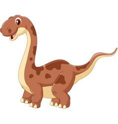 adorable cute dinosaur vector image