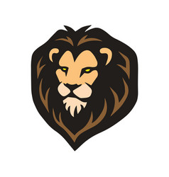 african lion head logo template vector image