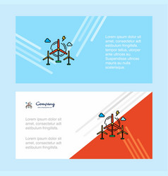 air turbine abstract corporate business banner vector image