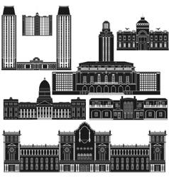 American architecture-1 vector