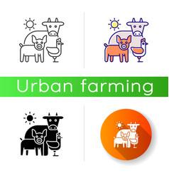 Animal husbandry icon vector
