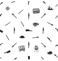 bbq thematic seamless design barbecue pattern vector image