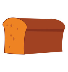 big bread on white background vector image