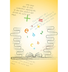 book of knowledge vector image