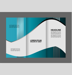 brochure design template waves tri-fold vector image