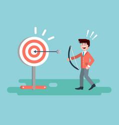 businessman hits target vector image