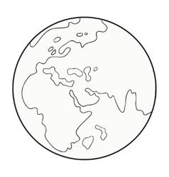 cartoon globe vector image vector image