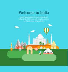 Cartoon symbol of india background tourism concept vector