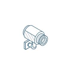 cctv camera isometric icon 3d line art technical vector image