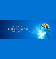 christmas banner horizontal design template with vector image
