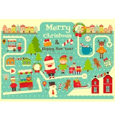 christmas map vector image